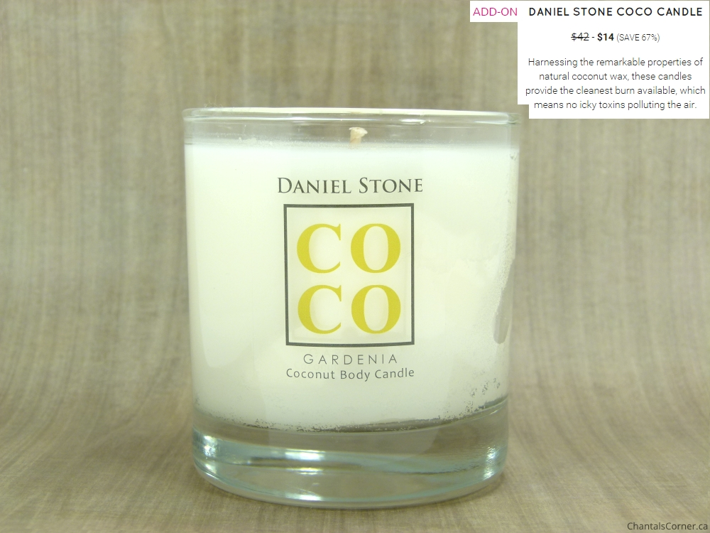 fabfitfun add on daniel stone coco gardenia coconut body candle