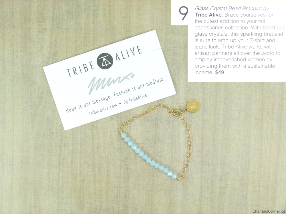 fabfitfun 2015 Fall Edition glass crystal bead bracelet by tribe alive