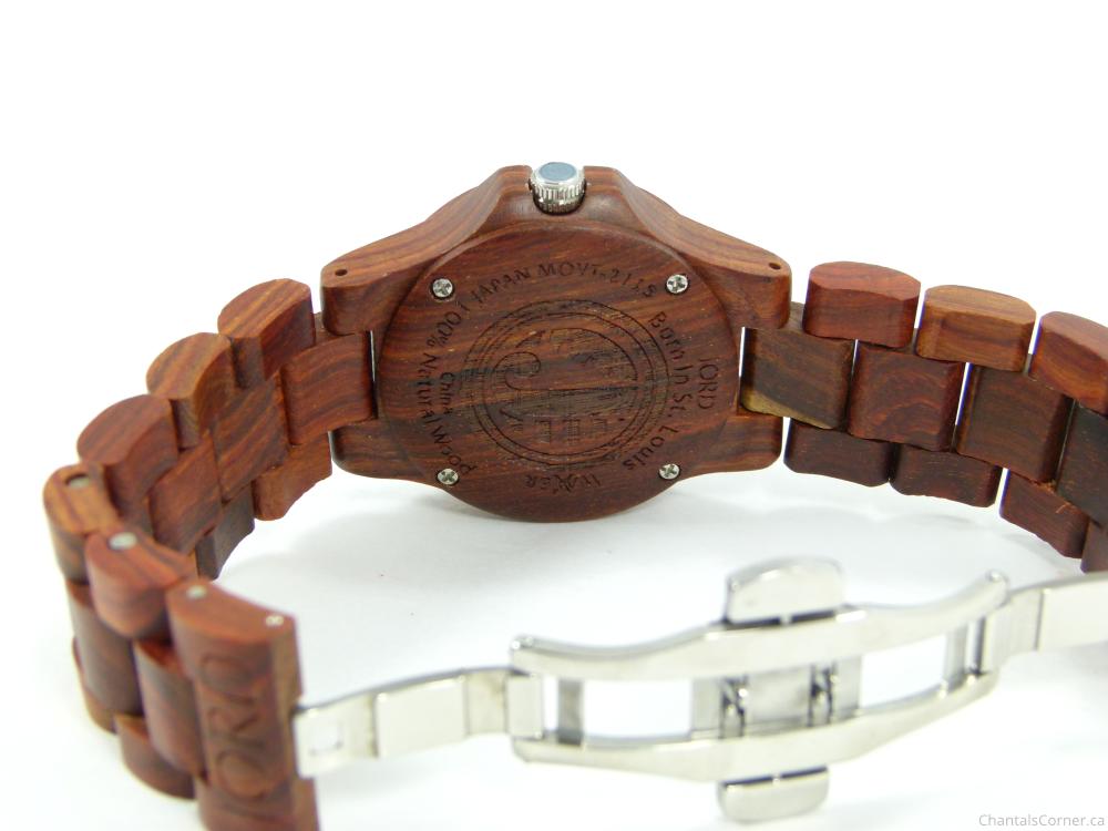jord wood watch ely red sandalwood