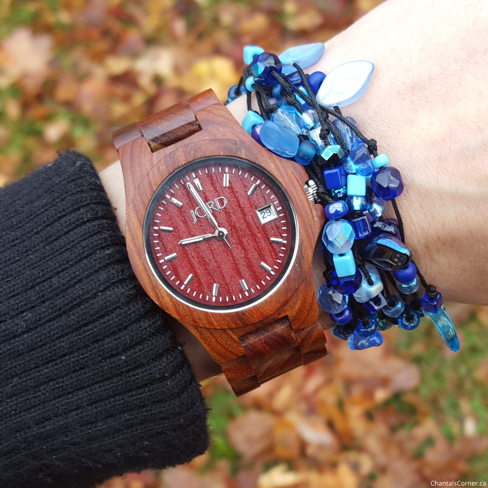 jord wood watch ely red sandalwood