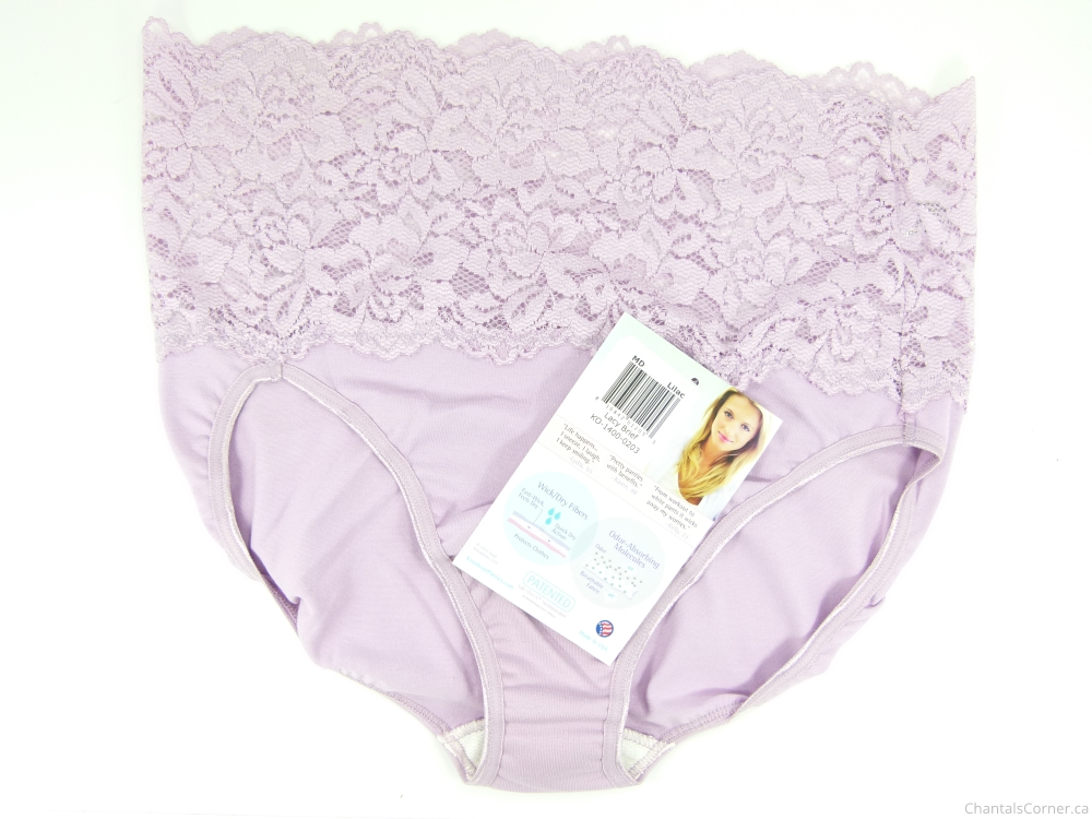 knock out! smart panties lacy brief lilac