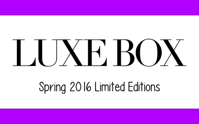 luxe box spring 2016 limited editions