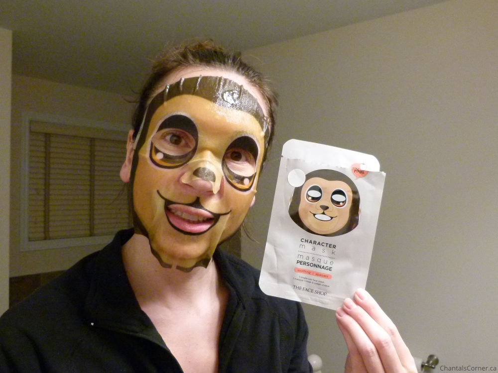 thefaceshop character mask monkey