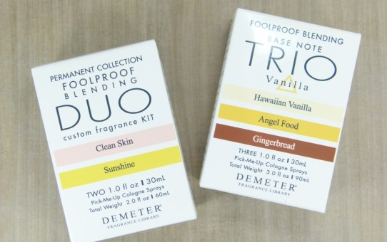 demeter blending kit duo clean skin sunshine trio vanilla
