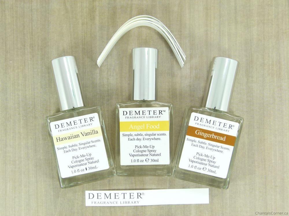 demeter vanilla trio blending kit hawaiian vanilla angel food gingerbread