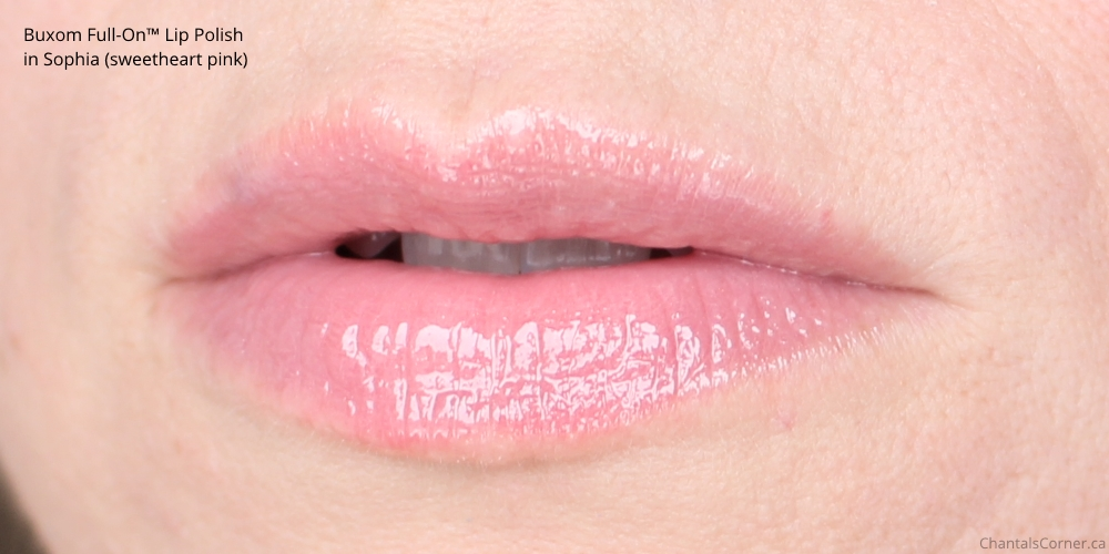 Buxom Full-On Lip Polish in Sophia sweetheart pink