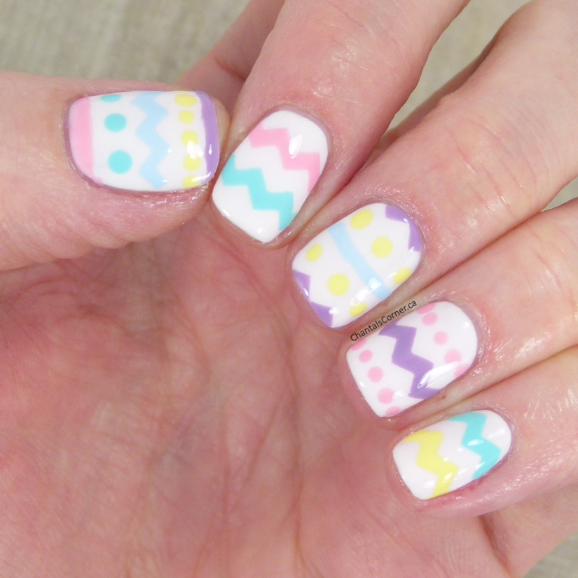 easter eggs nail art