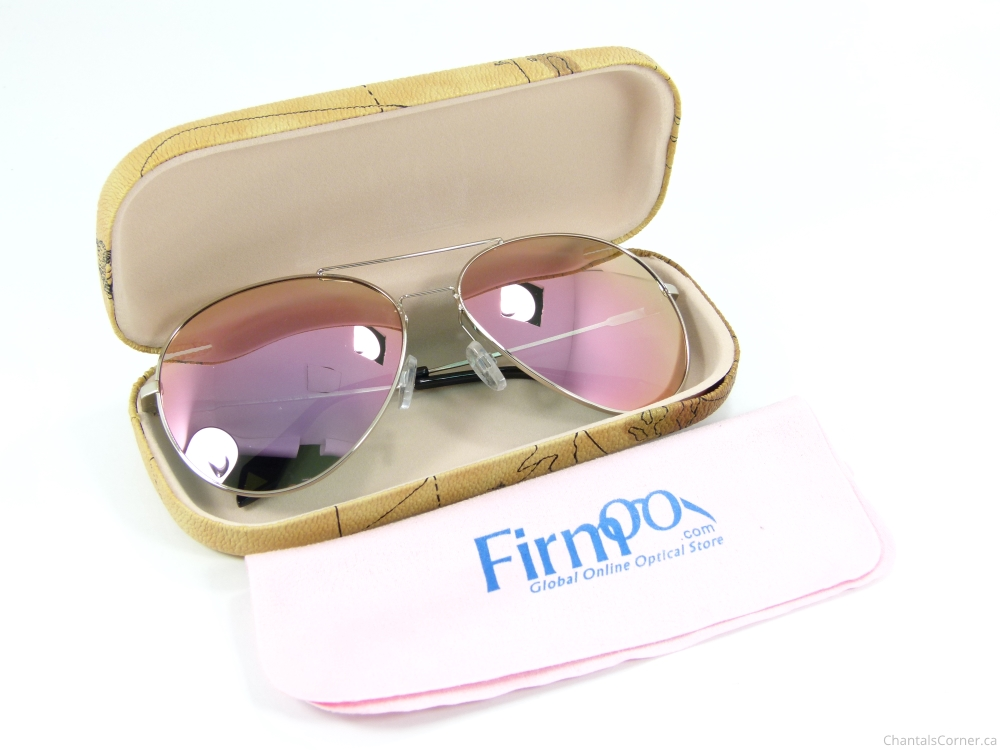 fefa067ed8 Firmoo Aviator Sunglasses SC1640 in Pink Silver - Review