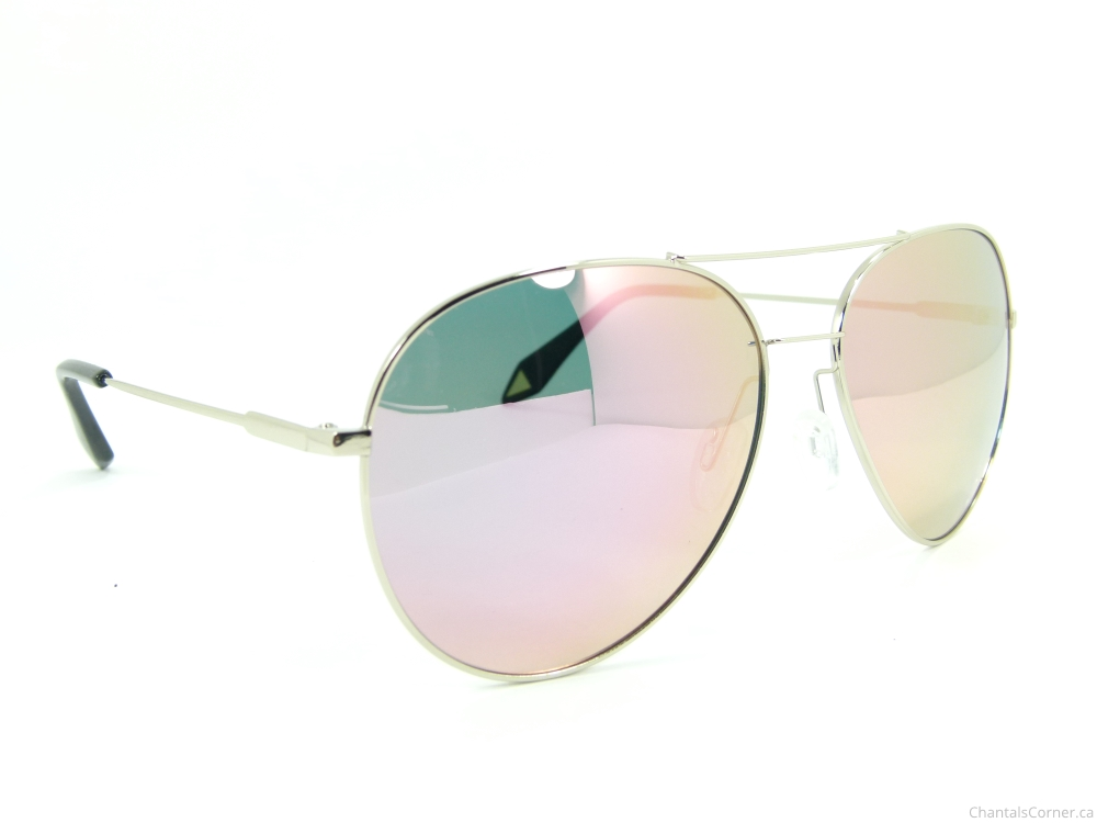 firmoo aviator sunglasses SC1640 pink silver