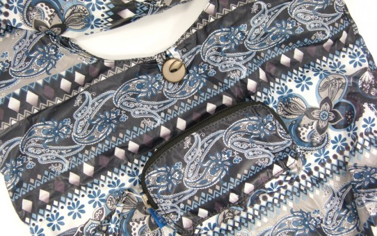 sacs of life City Slinger 2 Bag Set in Black Blue Paisley