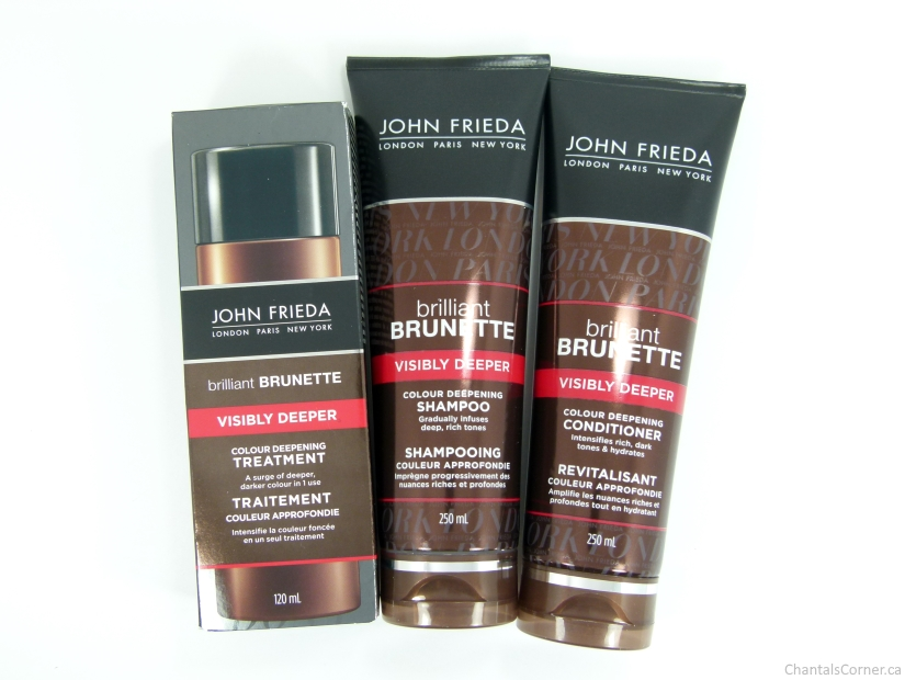 John Frieda Brilliant Brunette Visibly Deeper Products Review