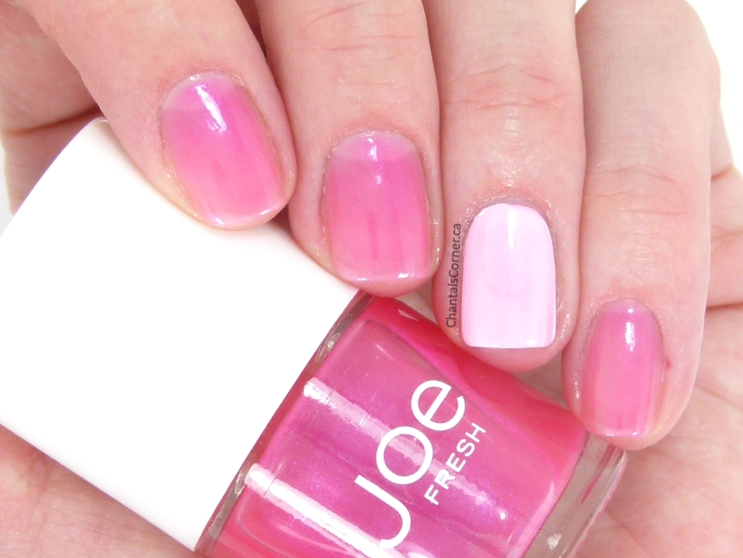 "Joe Fresh ""Petunia"" Nail Polish Swatches and Review"