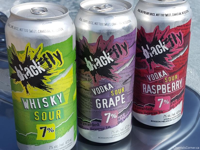 Black Fly Booze: Whisky Sour, Vodka Sour Grape & Vodka Sour Raspberry