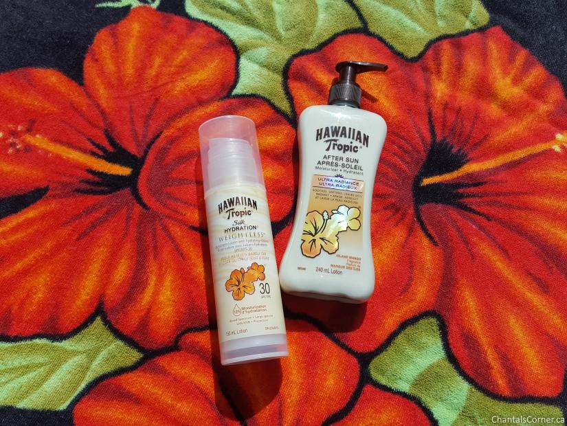 hawaiian tropic silk hydration weightless sunscreen ultra radiance after sun lotion