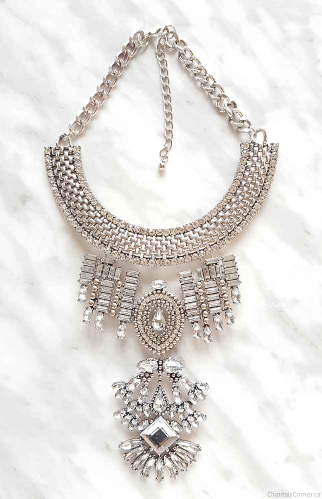 happiness boutique bold statement necklace in silver