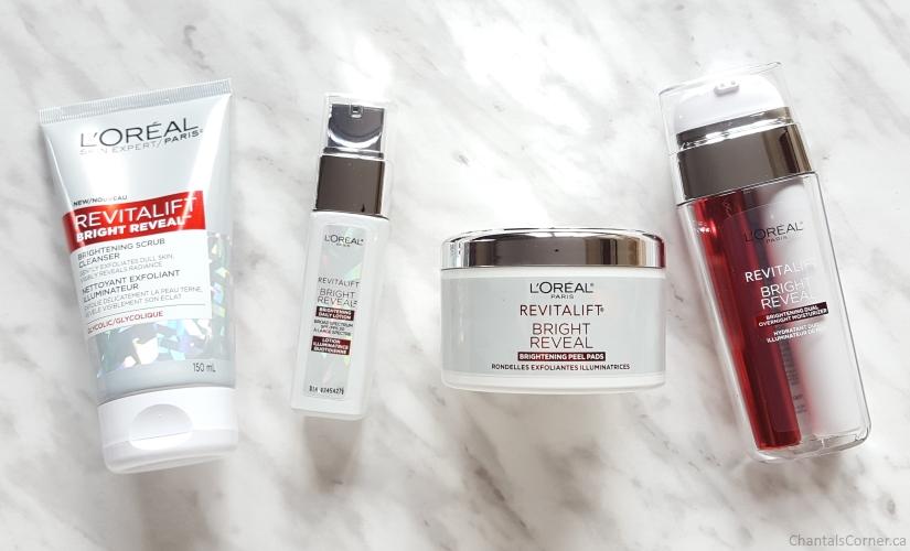 l'oreal paris revitalift bright reveal products