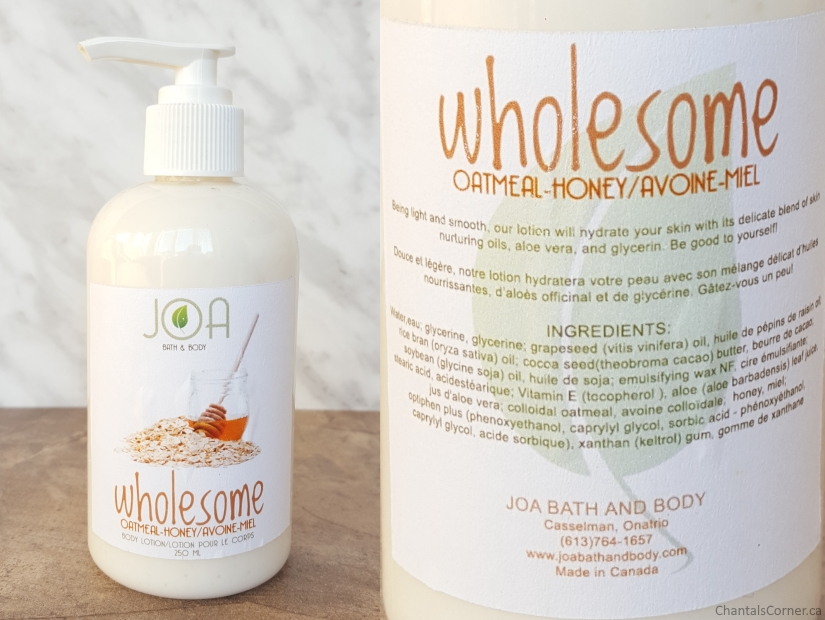 joa bath and body wholesome body lotion oatmeal honey