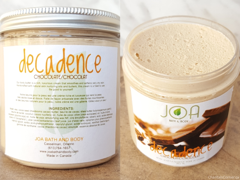 joa bath and body decadence chocolate body souffle