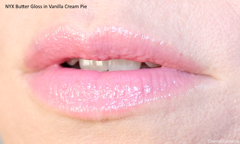 nyx butter gloss vanilla cream pie