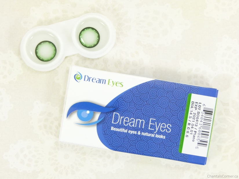 Spooky Eyes Feather Green Contact Lenses