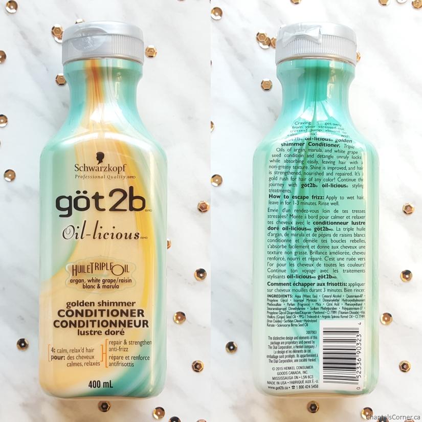 göt2b oil-licious golden shimmer Conditioner