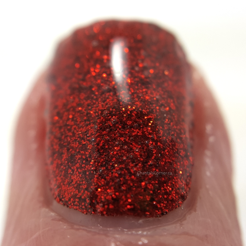 milani red sparkle nail polish