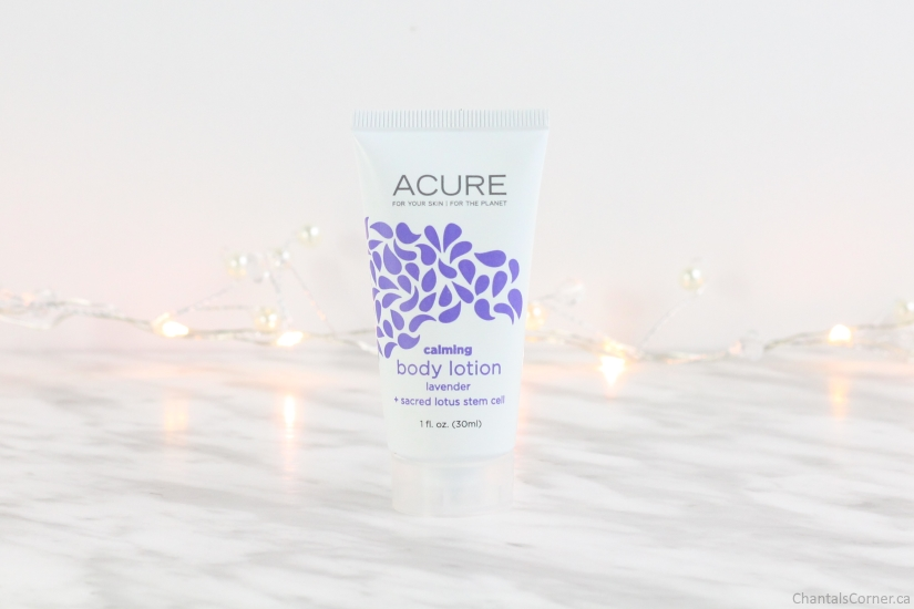 ACURE Organics calming body lotion lavender