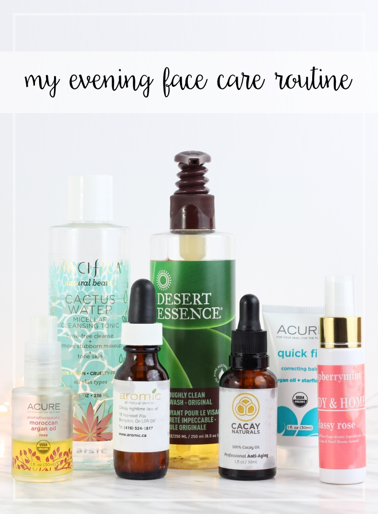 My evening face care routine