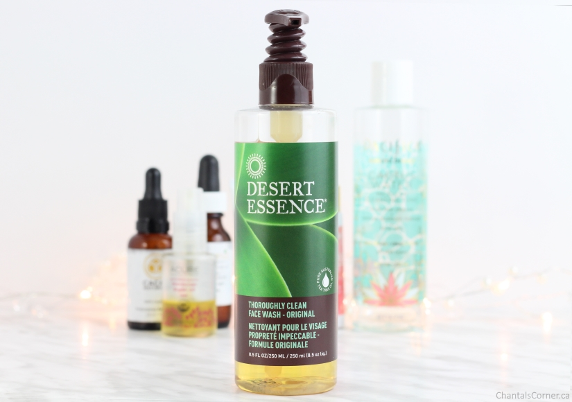 evening face care routine desert essence
