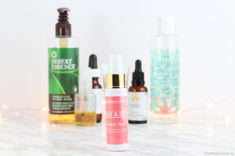 evening face care routine raspberrymint