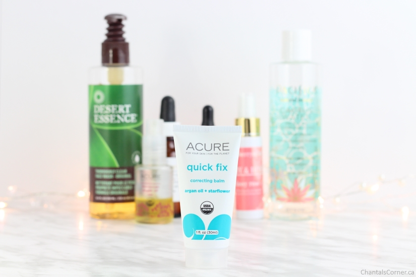 evening face care routine acure organics