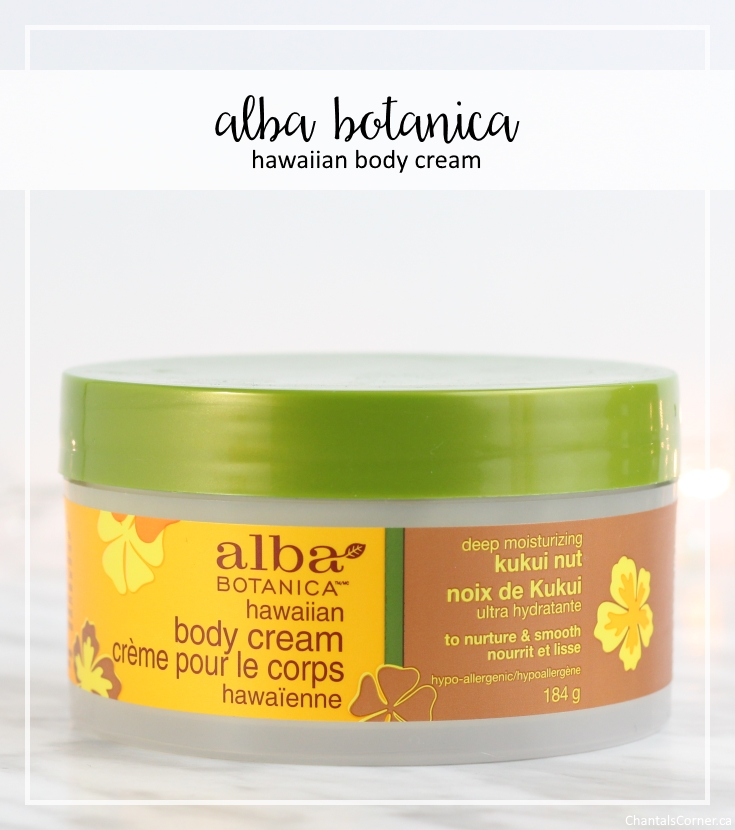 Alba Botanica Hawaiian Body Cream Deep Moisturizing Kukui Nut