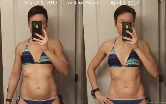 My fitness progress before and after picture