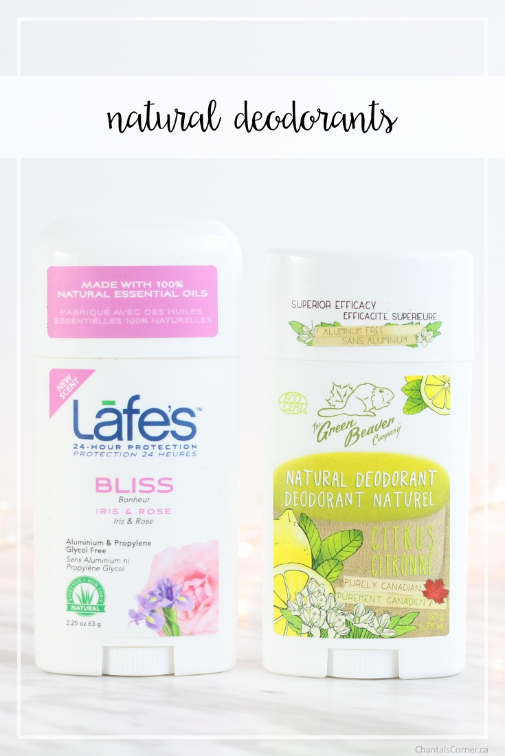 Natural deodorants with Lafe's and The Green Beaver Company 1