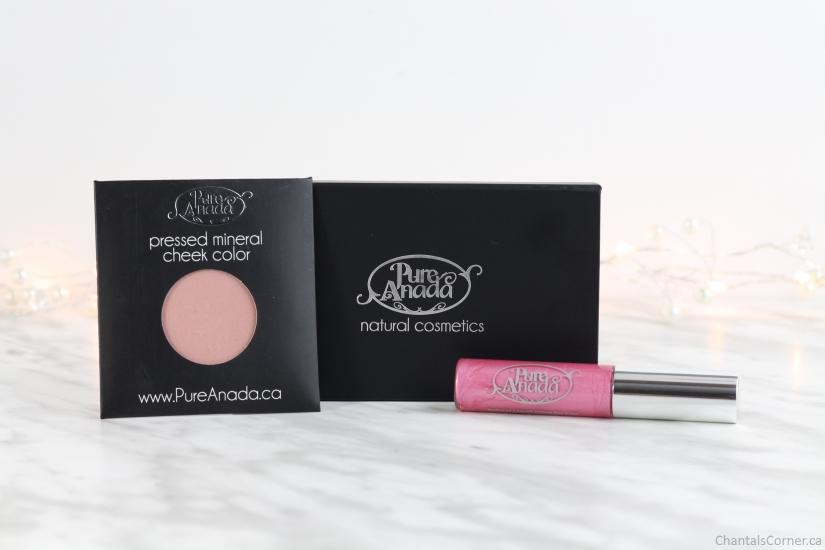 pure anada natural makeup lip gloss blush