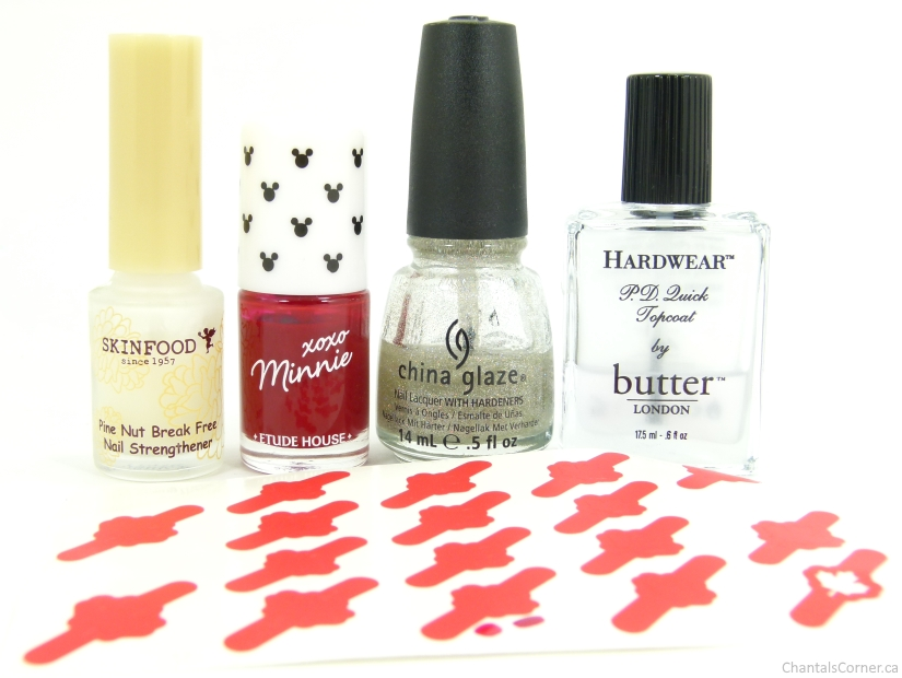 Canada Day Nail Art supplies