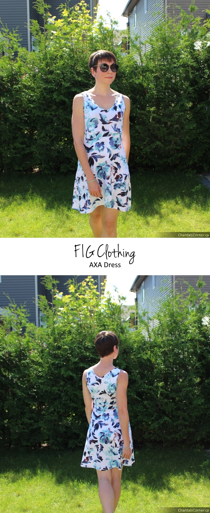 FIG Clothing AXA dress Ocean collection