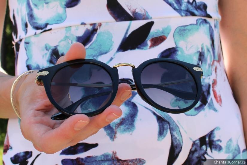 GlassesShop Edith Round Sunglasses Black