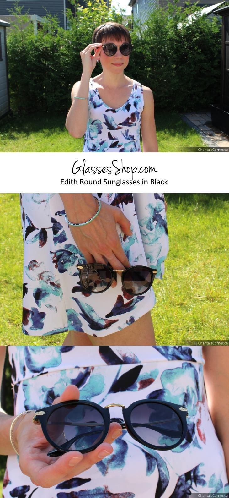 GlassesShop.com Edith Round Black