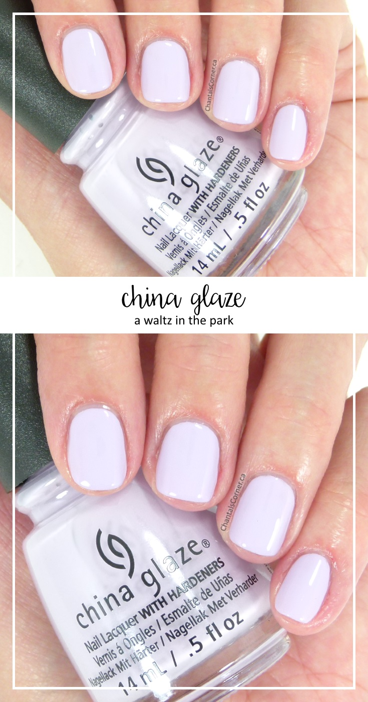 China Glaze Pastels Collection A Waltz In The Park
