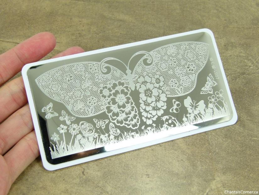 Born Pretty Nail Art Stamping plate butterflies
