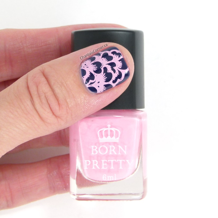 Lace and Floral Nail Art Stamping Born Pretty Store