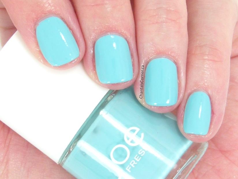 Joe Fresh aqua nail polish