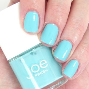 Joe Fresh aqua nail polish