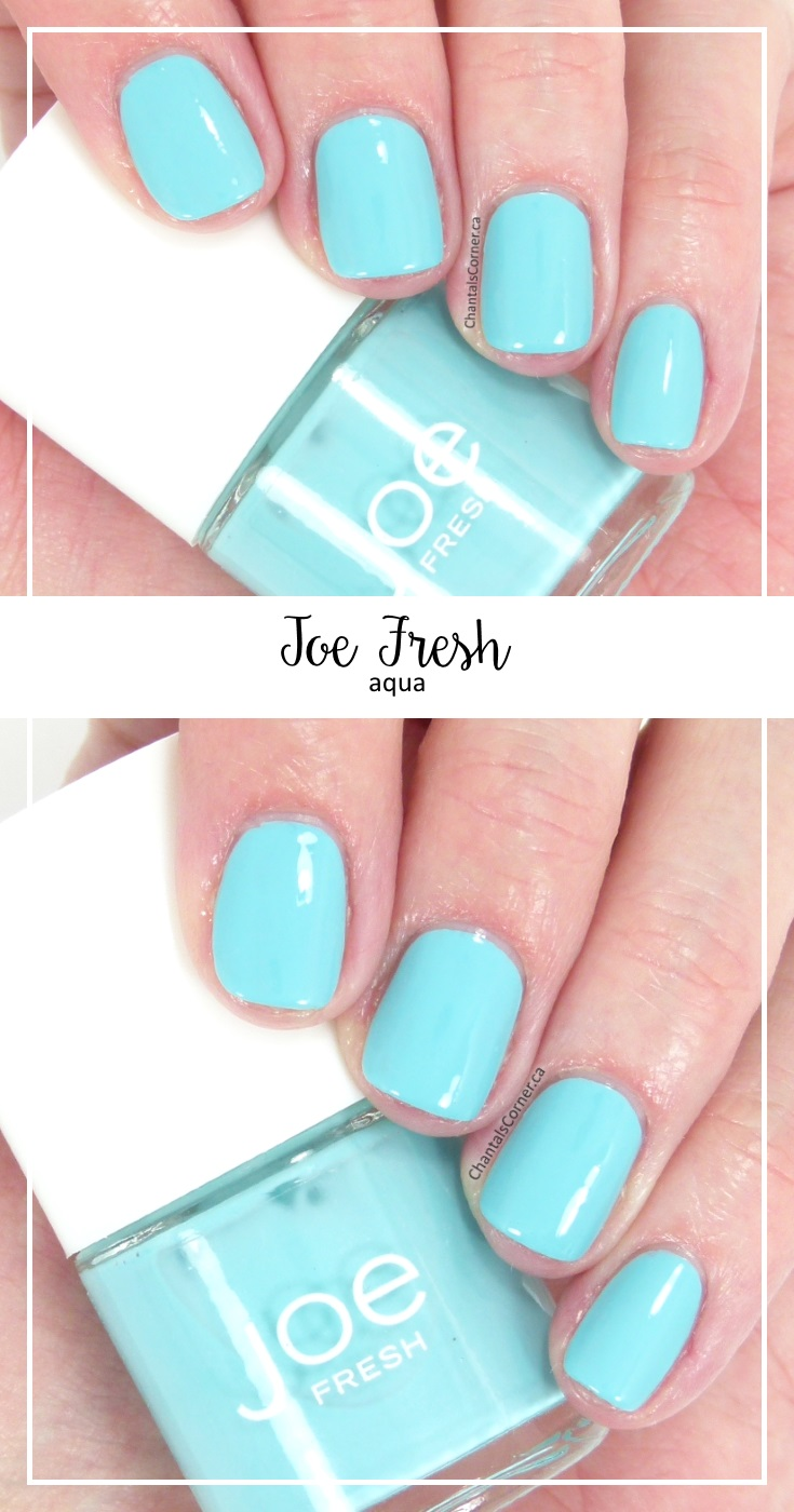 Joe Fresh nail polish in Aqua