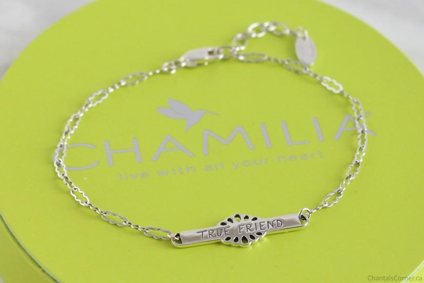 chamilia spoken collection true friend id bracelet
