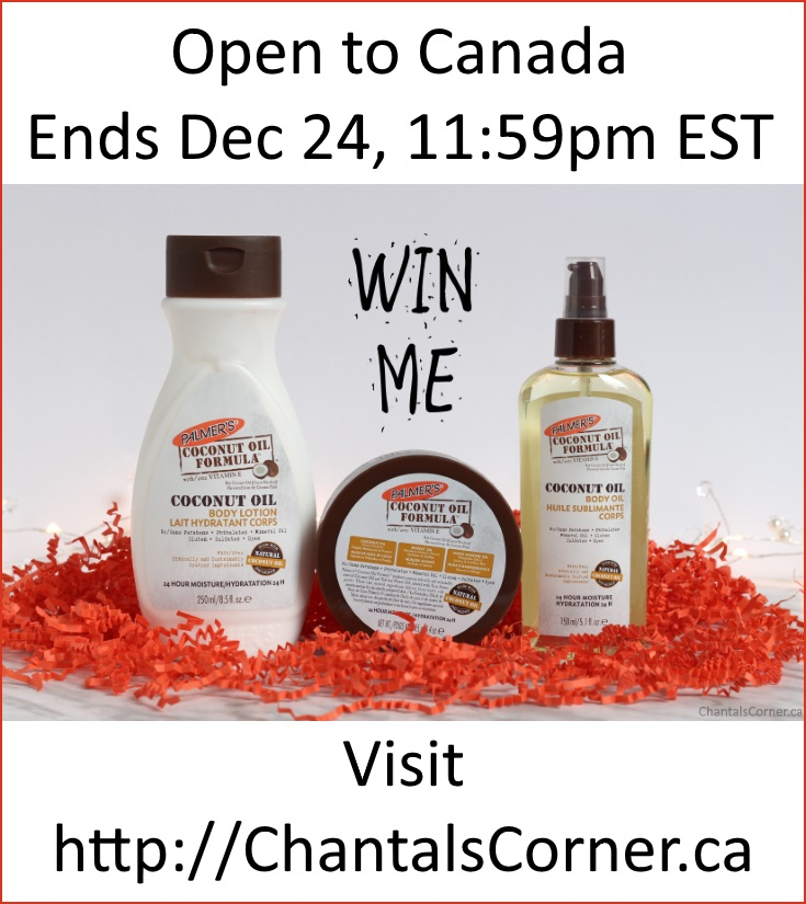 Palmer's Coconut Oil Formula Products Giveaway