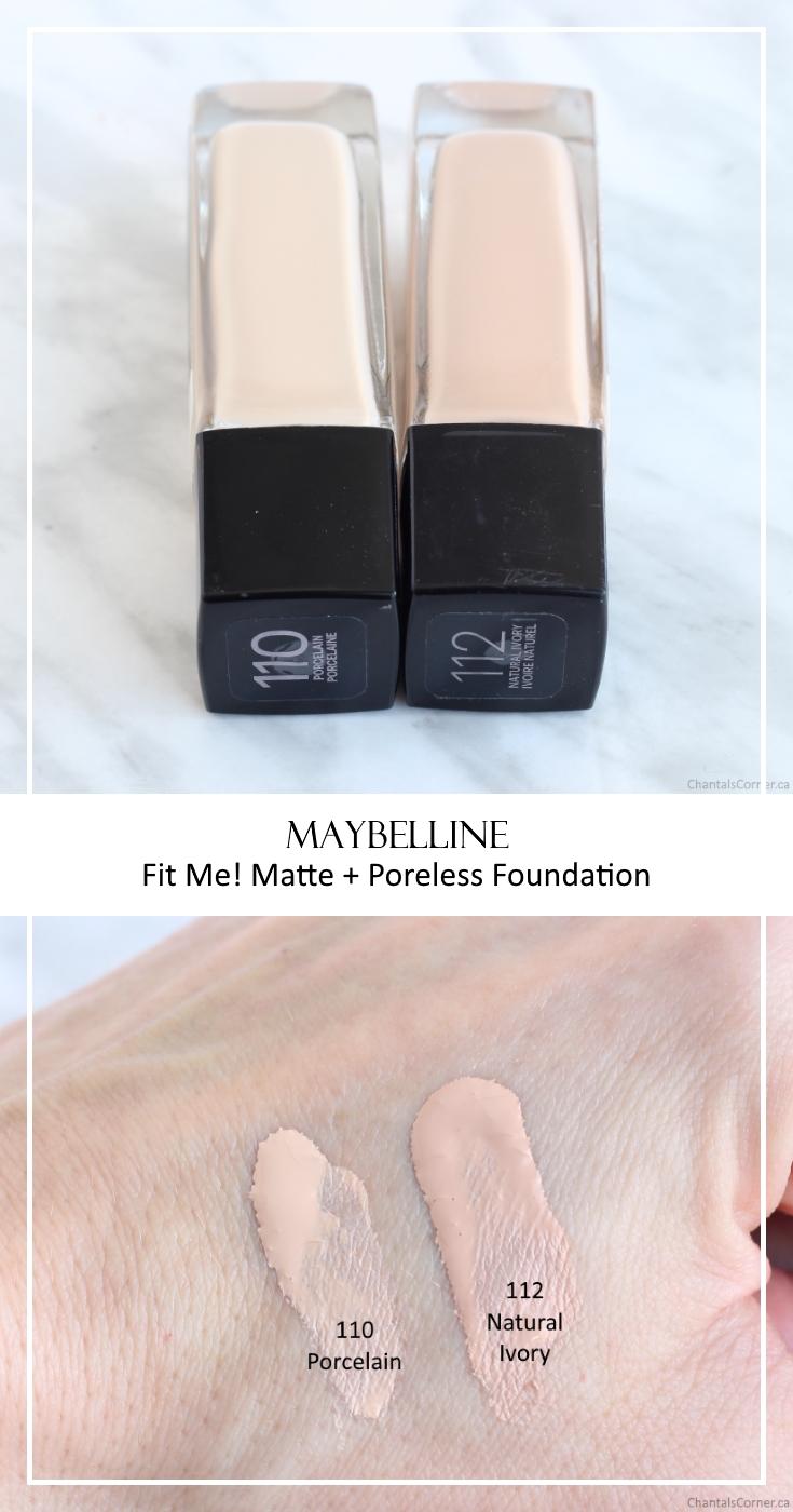 Maybelline Fit Me! Matte + Poreless Foundation in 110