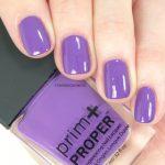 Prim and Proper nail polish Victoria Violet swatch
