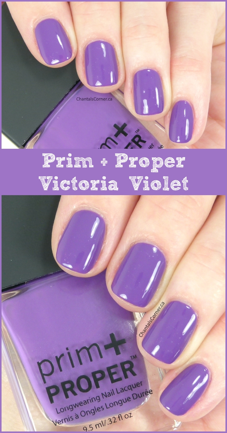 Prim and Proper nail polish Victoria Violet